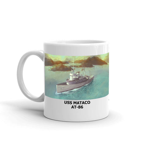 USS Mataco AT-86 Coffee Cup Mug Left Handle