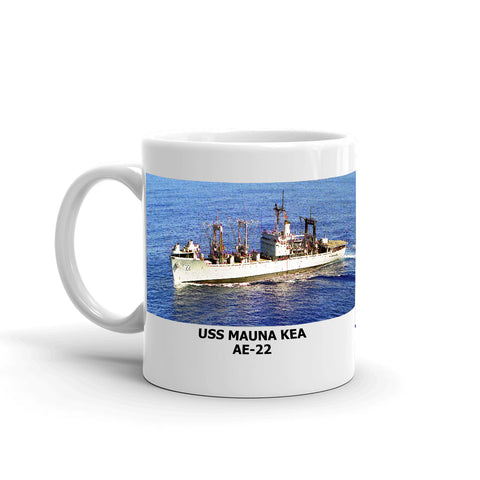 USS Mauna Kea AE-22 Coffee Cup Mug Left Handle