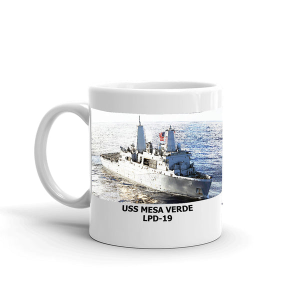 USS Mesa Verde LPD-19 Coffee Cup Mug Left Handle