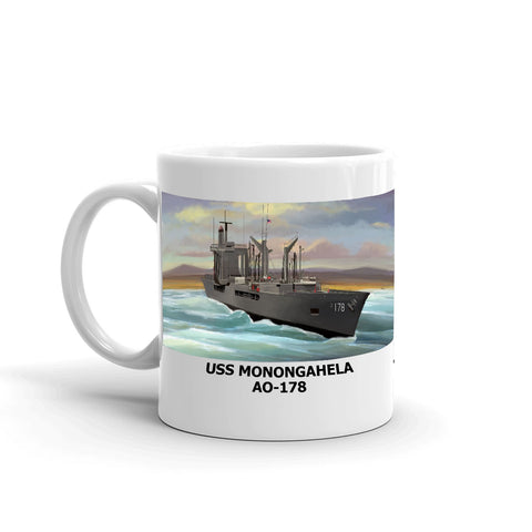 USS Monongahela AO-178 Coffee Cup Mug Left Handle