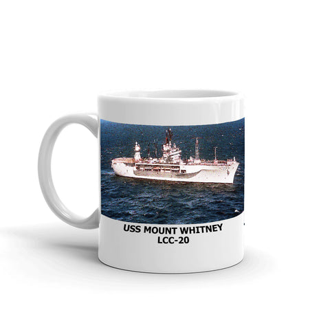 USS Mount Whitney LCC-20 Coffee Cup Mug Left Handle