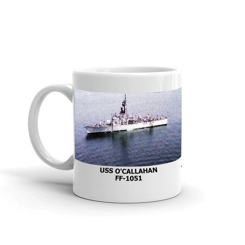 USS O'Callahan FF-1051 Coffee Cup Mug Left Handle