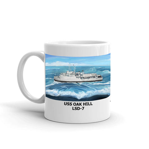 USS Oak Hill LSD-7 Coffee Cup Mug Left Handle