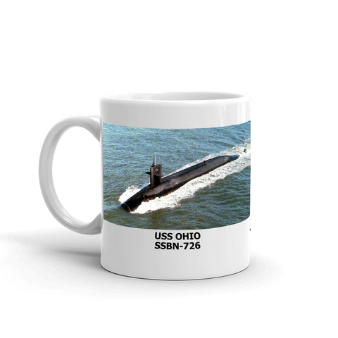 USS Ohio SSBN-726 Coffee Cup Mug Left Handle