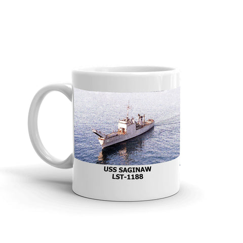 USS Saginaw LST-1188 Coffee Cup Mug Left Handle