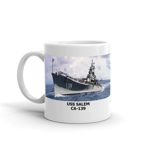 USS Salem CA-139 Coffee Cup Mug Left Handle