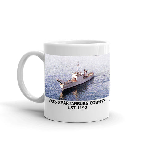 USS Spartanburg County LST-1192 Coffee Cup Mug Left Handle