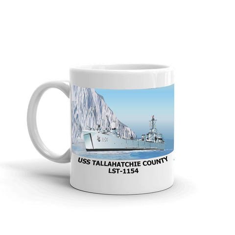USS Tallahatchie County LST-1154 Coffee Cup Mug Left Handle
