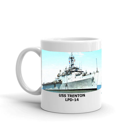 USS Trenton LPD-14 Coffee Cup Mug Left Handle
