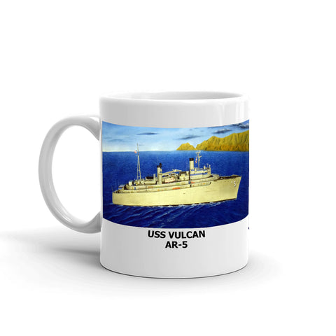 USS Vulcan AR-5 Coffee Cup Mug Left Handle