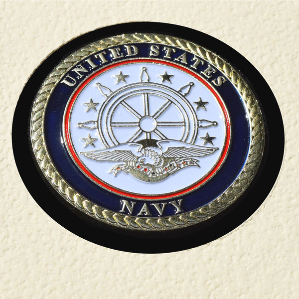 USS CORAL SEA CV-43 Detailed Coin