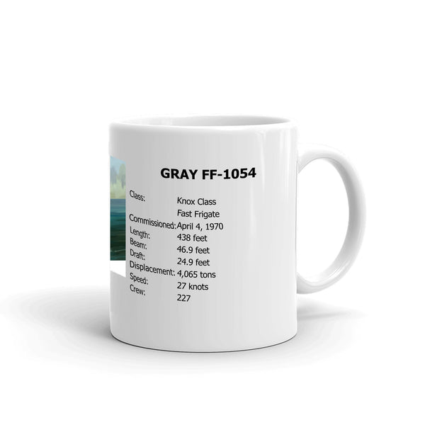 USS Gray FF-1054 Coffee Cup Mug Right Handle
