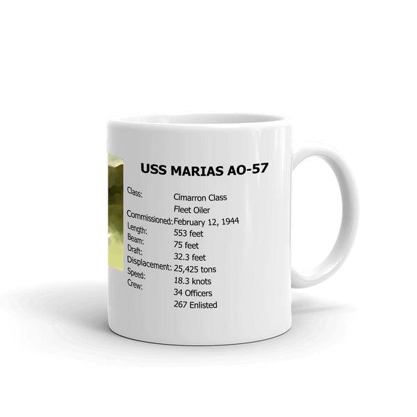 USS Marias AO-57 Coffee Cup Mug Right Handle