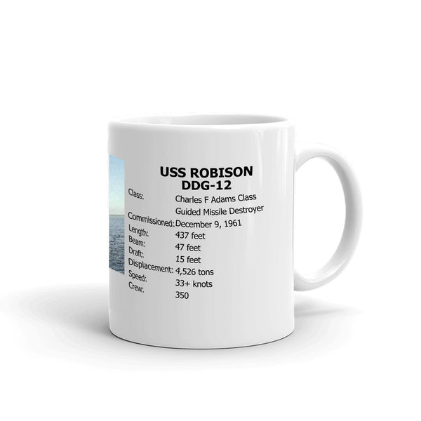 USS Robison DDG-12 Coffee Cup Mug Right Handle