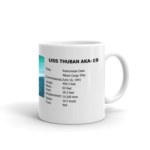 USS Thuban AKA-19 Coffee Cup Mug Right Handle