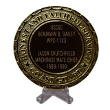 USCGC Benjamin B. Dailey WPC-1123 Coast Guard Plaque