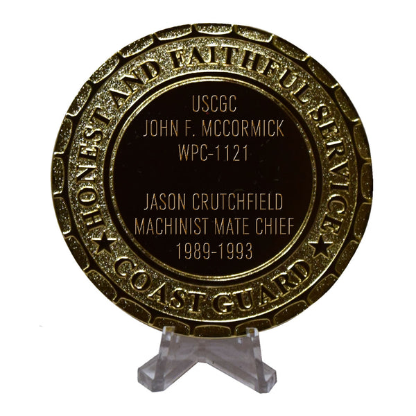 USCGC John F. McCormick WPC-1121 Coast Guard Plaque