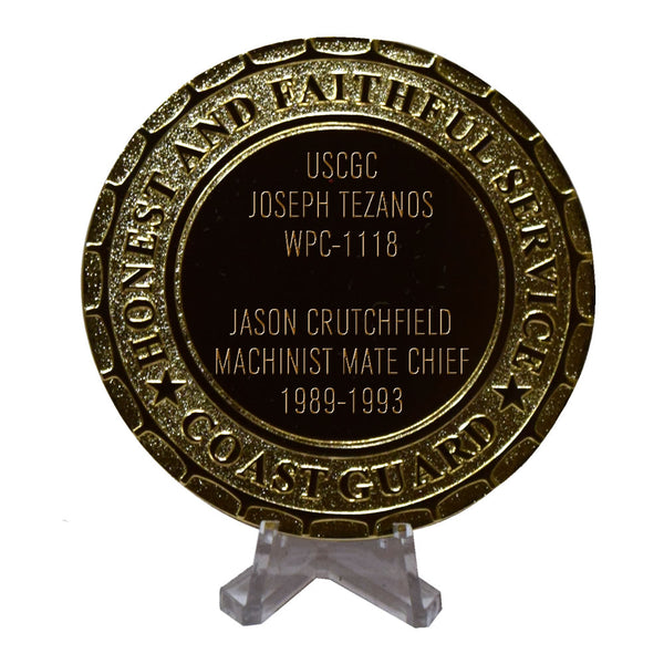 USCGC Joseph Tezanos WPC-1118 Coast Guard Plaque