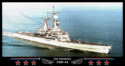USS Arkansas CGN-41 Art Print