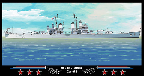 USS Baltimore CA-68 Art Print