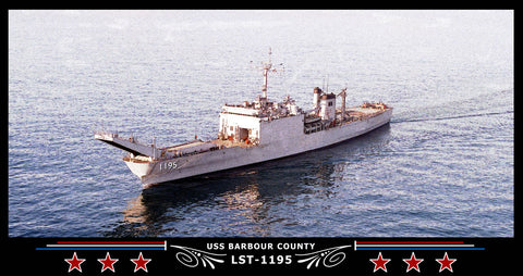 USS Barbour County LST-1195 Art Print