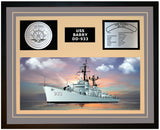 USS BARRY DD-933 Framed Navy Ship Display Grey