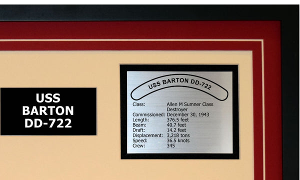 USS BARTON DD-722 Detailed Image B