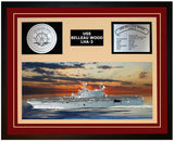 USS BELLEAU WOOD LHA-3 Framed Navy Ship Display Burgundy