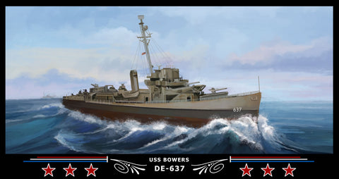 USS Bowers DE-637 Art Print