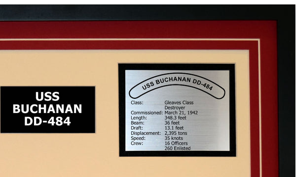 USS BUCHANAN DD-484 Detailed Image B