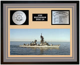 USS BUCHANAN DDG-14 Framed Navy Ship Display Grey