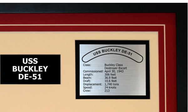 USS BUCKLEY DE-51 Detailed Image B
