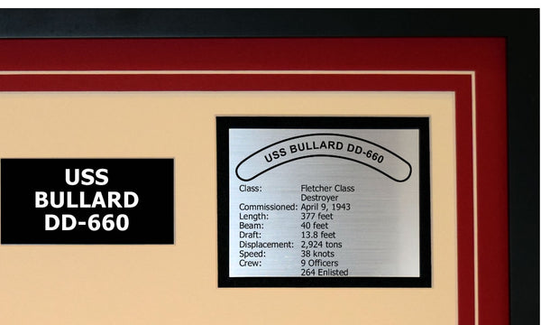 USS BULLARD DD-660 Detailed Image B