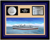 USS BUSHNELL AS-15 Framed Navy Ship Display Blue
