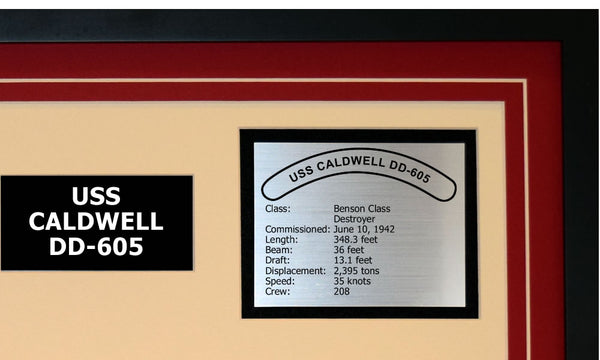 USS CALDWELL DD-605 Detailed Image B