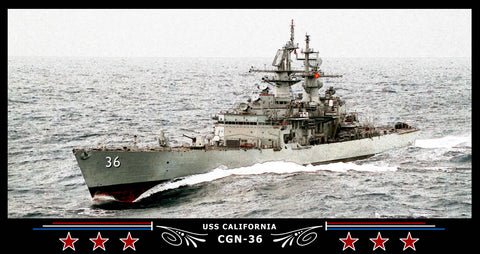 USS California CGN-36 Art Print