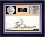 USS CARNEY DDG-64 Framed Navy Ship Display Blue