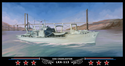 USS Charleston LKA-113 Art Print