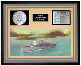 USS CHEROKEE AT-66 Framed Navy Ship Display Grey