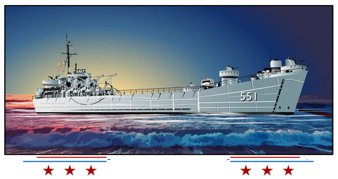USS Chesterfield County LST-551 Art Print