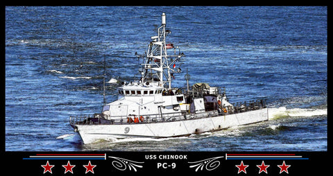 USS Chinook PC-9 Art Print