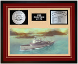 USS CHOCTAW AT-70 Framed Navy Ship Display Burgundy