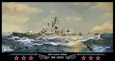 USS Claud Jones DE-1033 Art Print