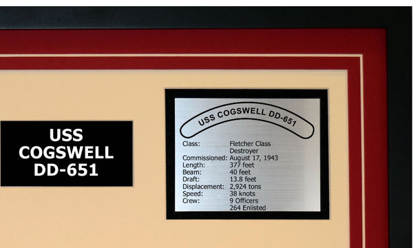 USS COGSWELL DD-651 Detailed Image B
