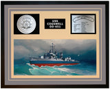 USS COGSWELL DD-651 Framed Navy Ship Display Grey