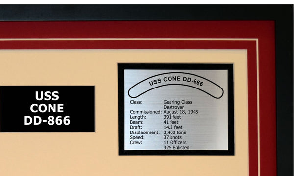USS CONE DD-866 Detailed Image B