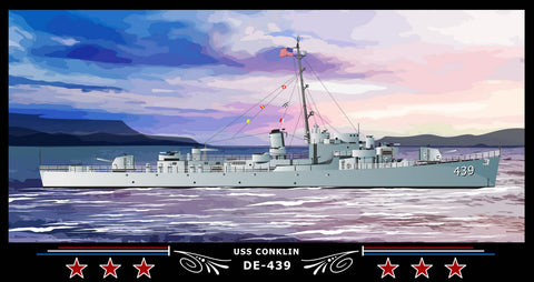 USS Conklin DE-439 Art Print