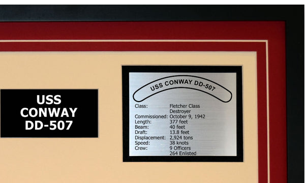 USS CONWAY DD-507 Detailed Image B