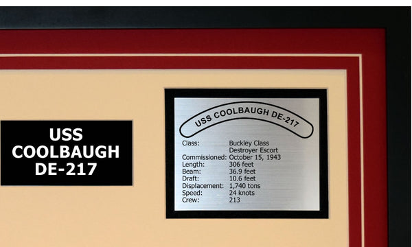 USS COOLBAUGH DE-217 Detailed Image B