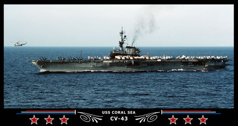 USS Coral Sea CV-43 Art Print